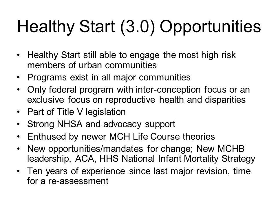 Healthy Start (3.0) Opportunities