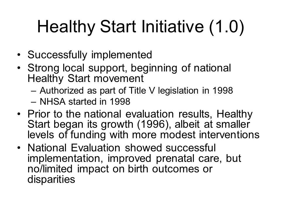 Healthy Start Initiative (1.0)