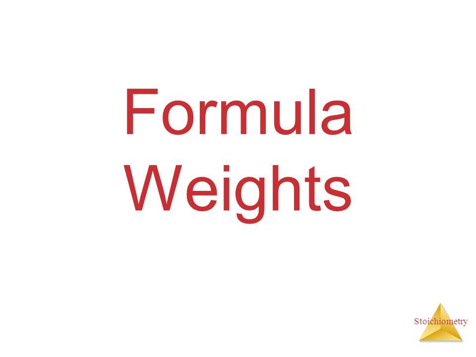 Formula Weights