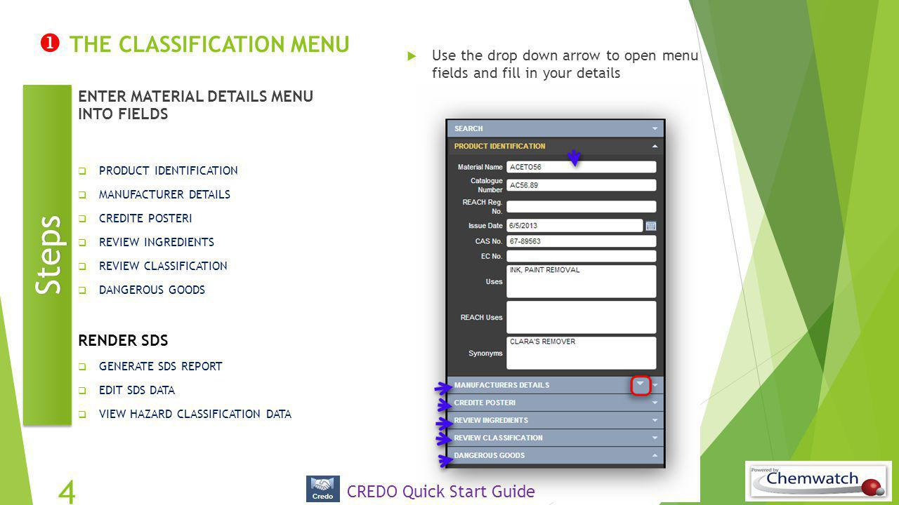  THE CLASSIFICATION MENU