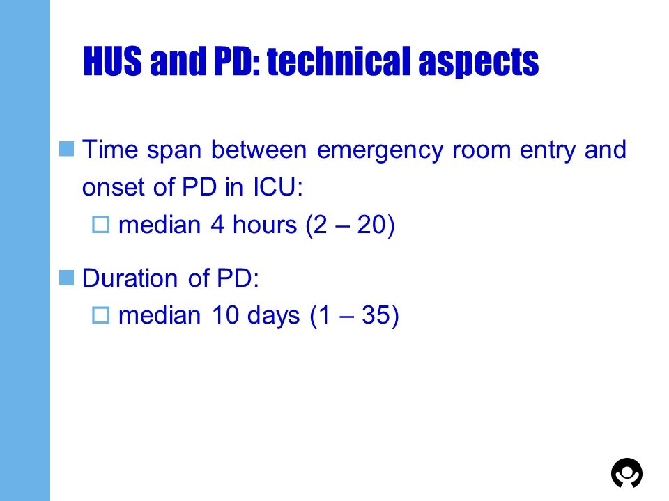 HUS and PD: technical aspects