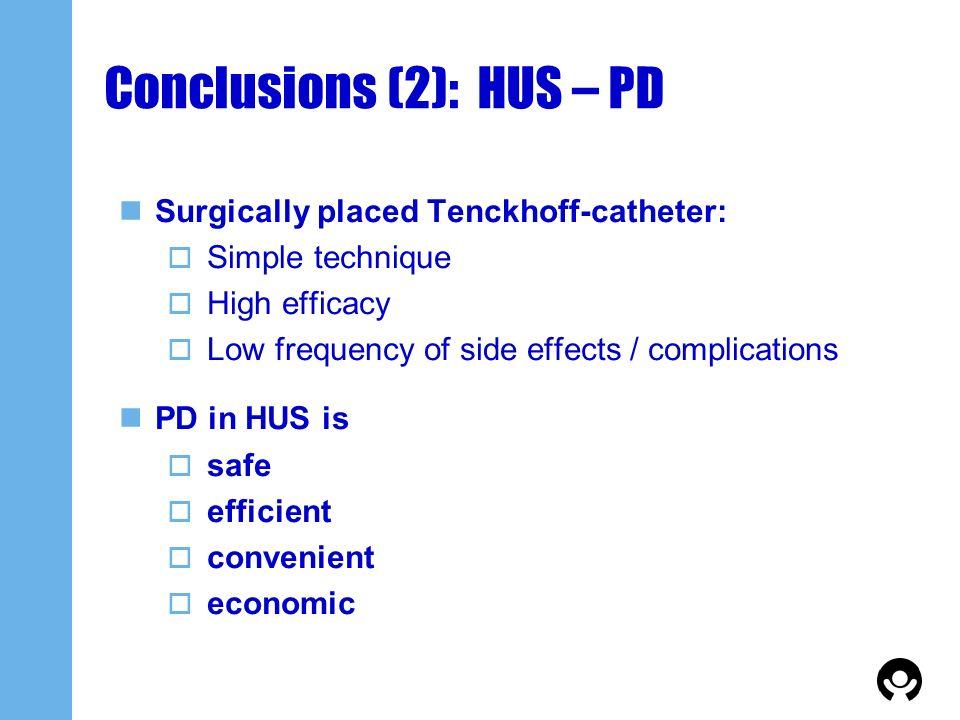 Conclusions (2): HUS – PD