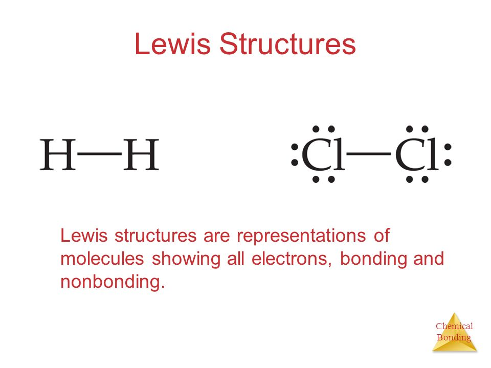 Lewis Structures Lewis structures are representations of molecules showing all electrons, bonding and nonbonding.