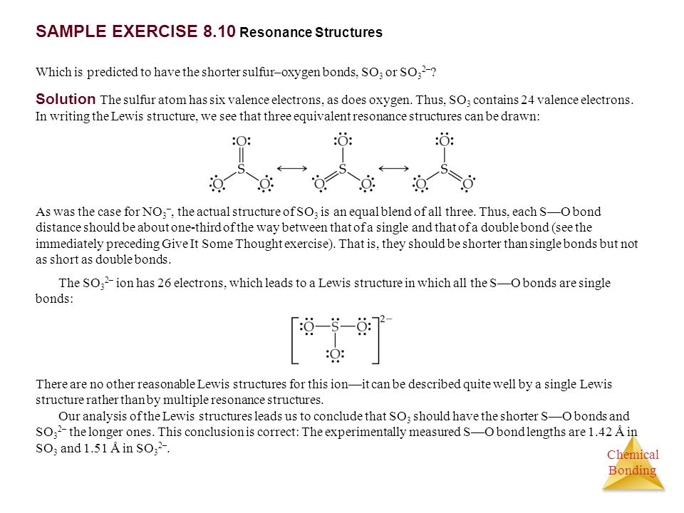 SAMPLE EXERCISE 8.10 Resonance Structures