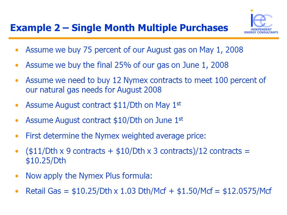 Example 2 – Single Month Multiple Purchases
