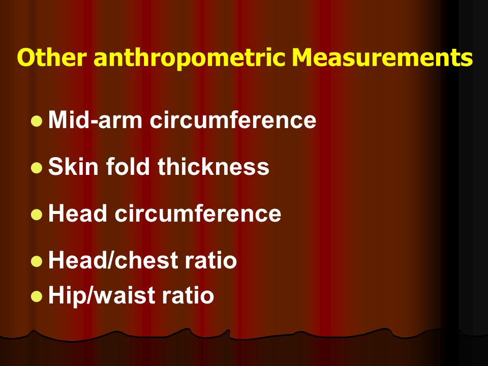 Other anthropometric Measurements
