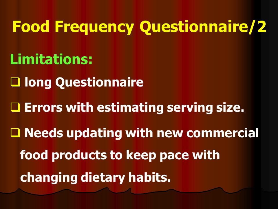 Food Frequency Questionnaire/2