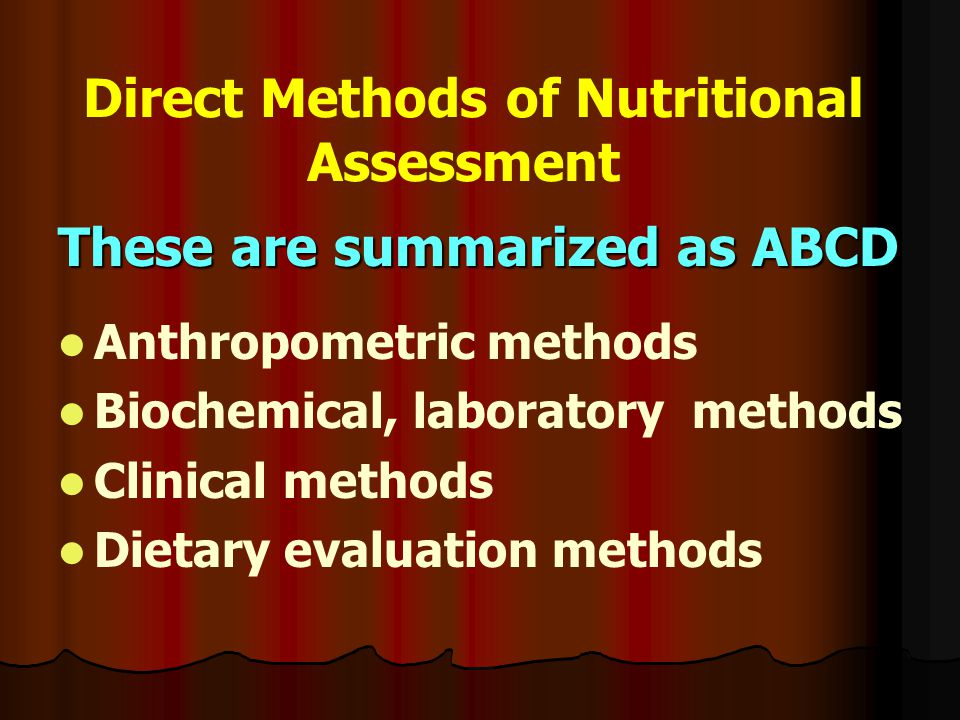 Direct Methods of Nutritional Assessment