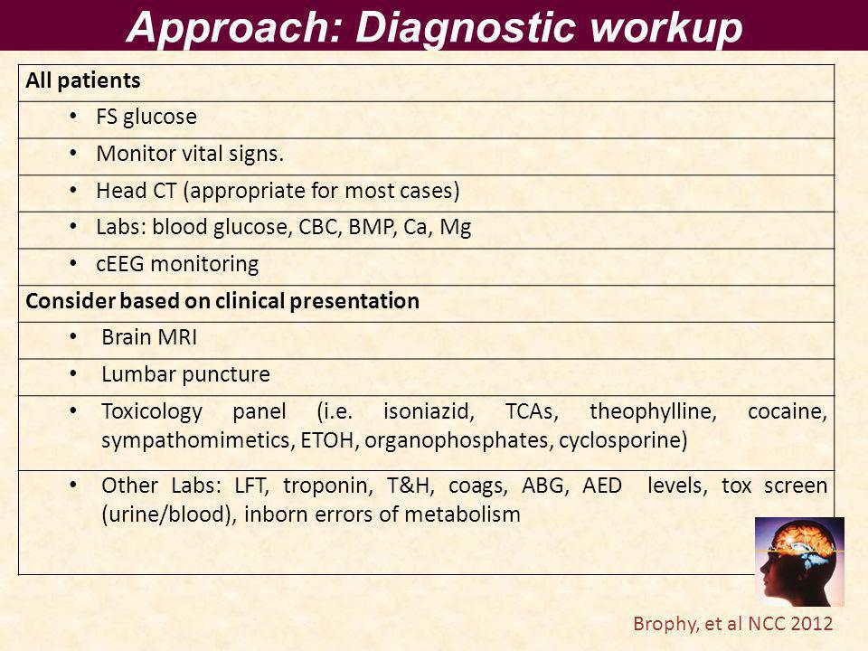 Approach: Diagnostic workup