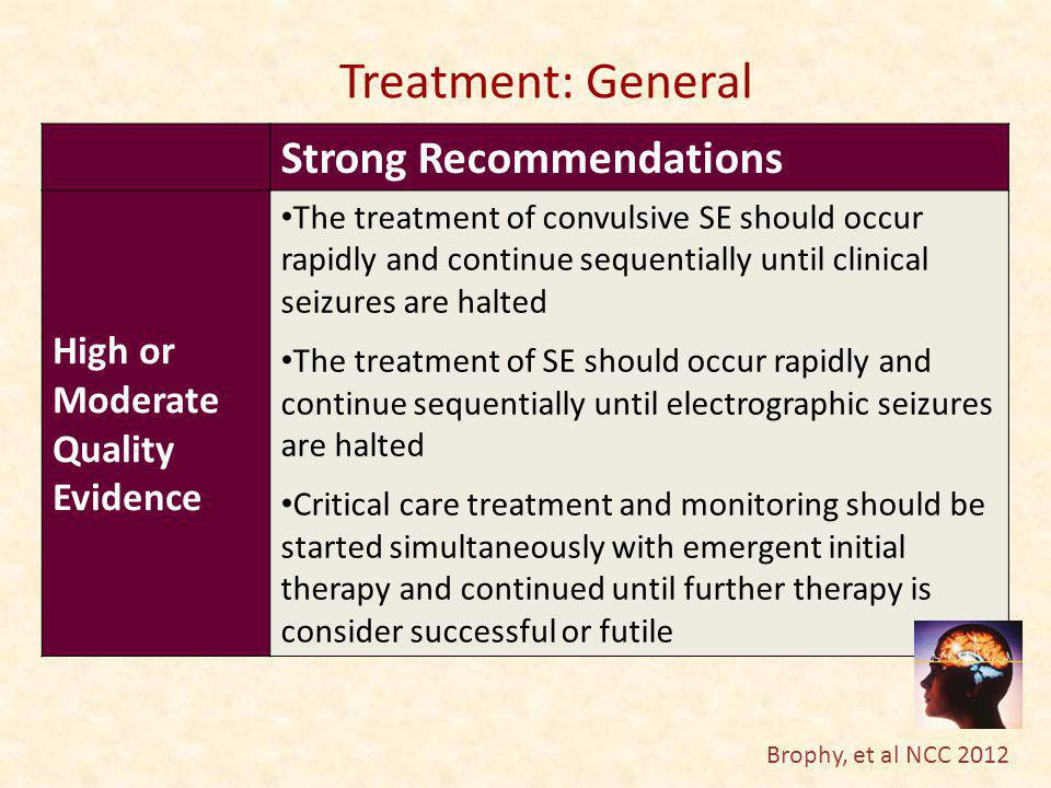 Treatment: General Strong Recommendations High or Moderate Quality