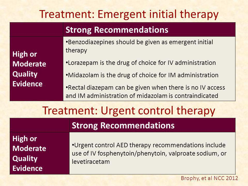 Treatment: Emergent initial therapy