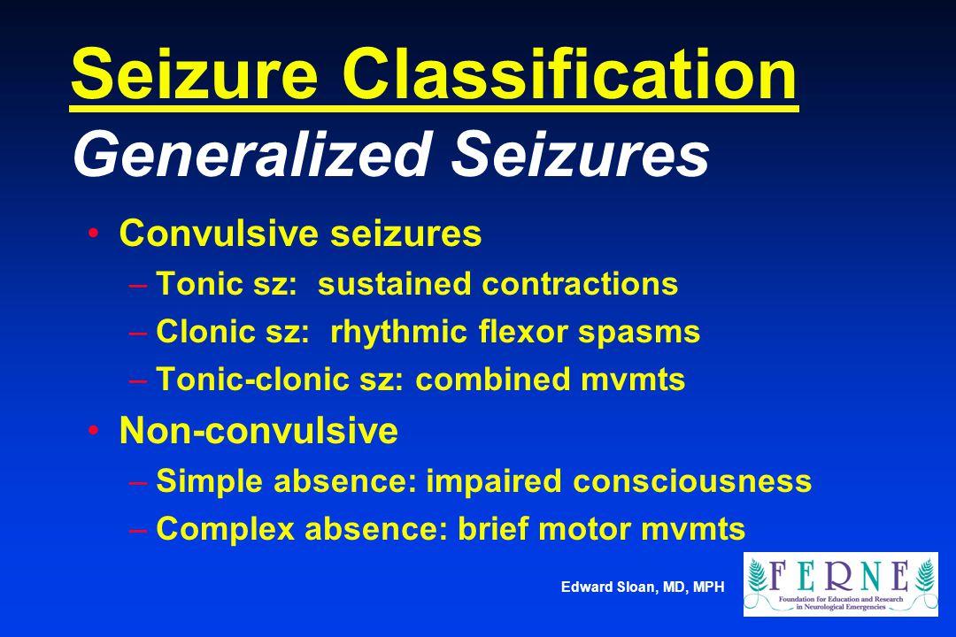 Seizure Classification Generalized Seizures