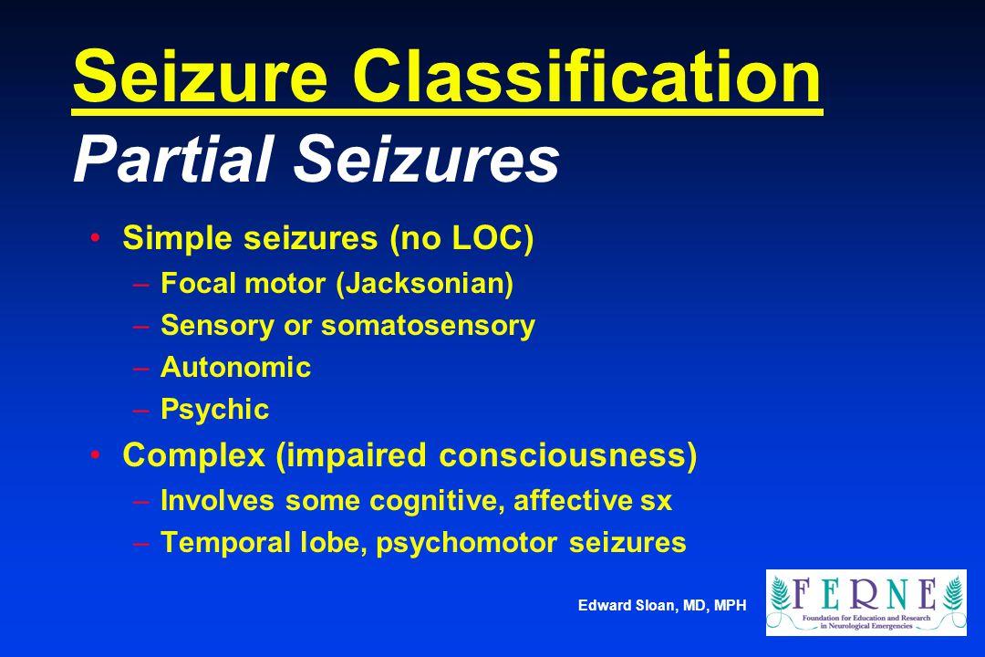 Seizure Classification Partial Seizures