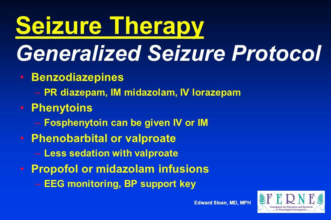 Seizure Therapy Generalized Seizure Protocol