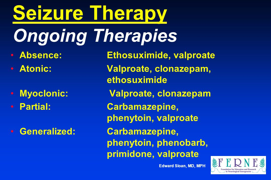 Seizure Therapy Ongoing Therapies