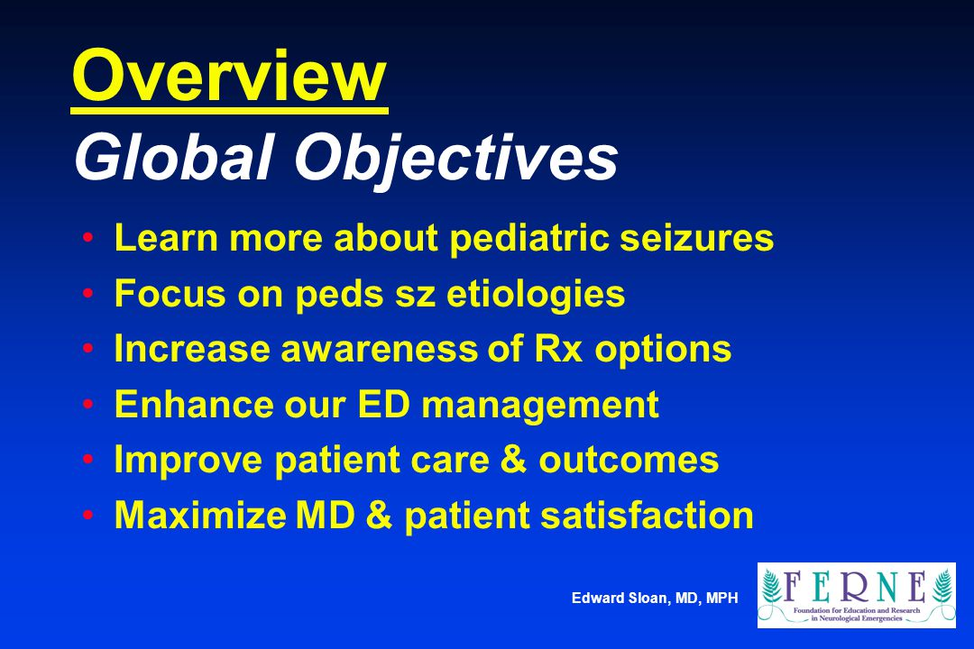 Overview Global Objectives