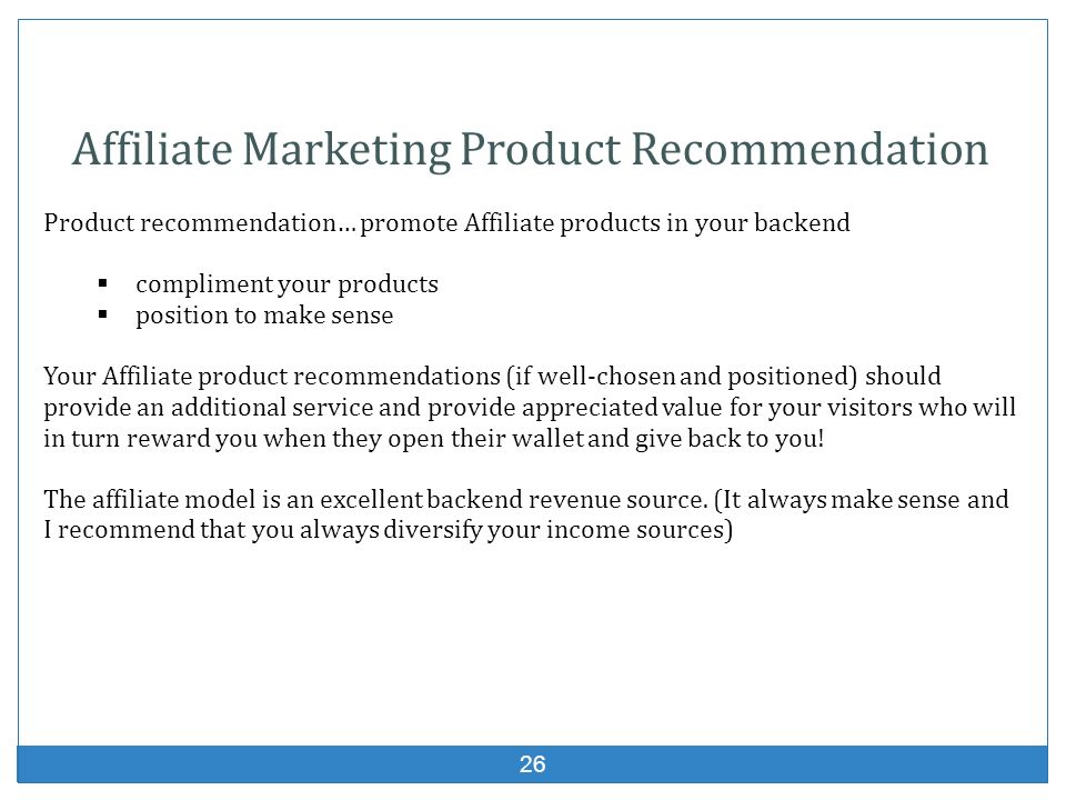 Affiliate Marketing Product Recommendation