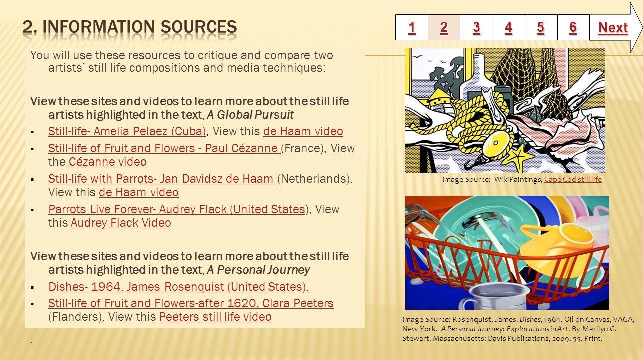 2. Information Sources Next 1 2 3 4 5 6