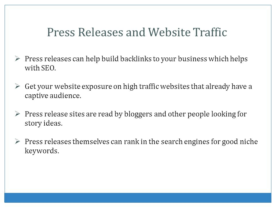 Press Releases and Website Traffic