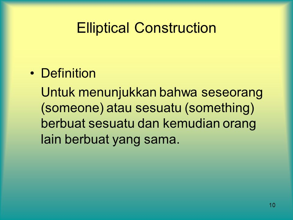 Elliptical Construction