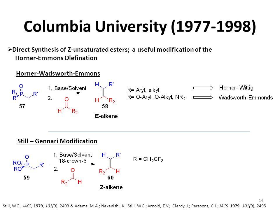 Columbia University (1977-1998)