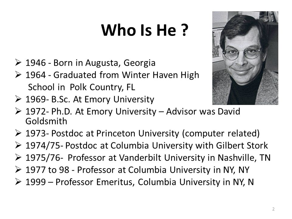 Who Is He 1946 - Born in Augusta, Georgia