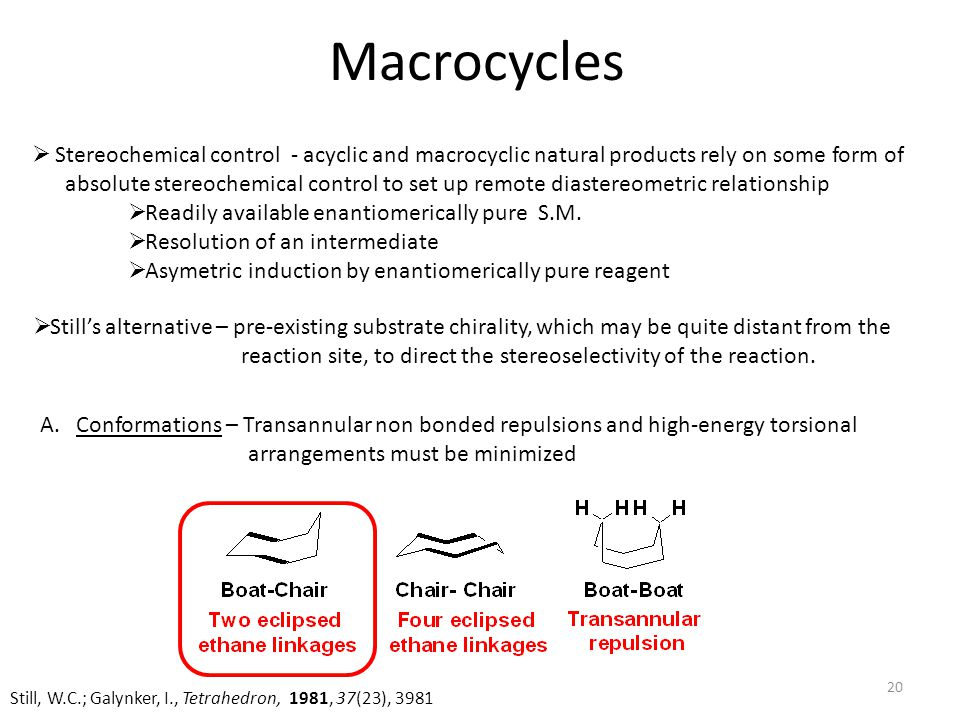 Macrocycles Stereochemical control - acyclic and macrocyclic natural products rely on some form of.