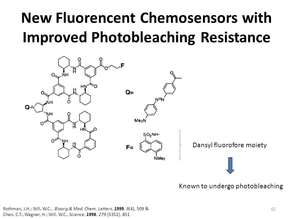 New Fluorencent Chemosensors with Improved Photobleaching Resistance