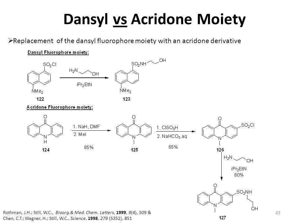 Dansyl vs Acridone Moiety