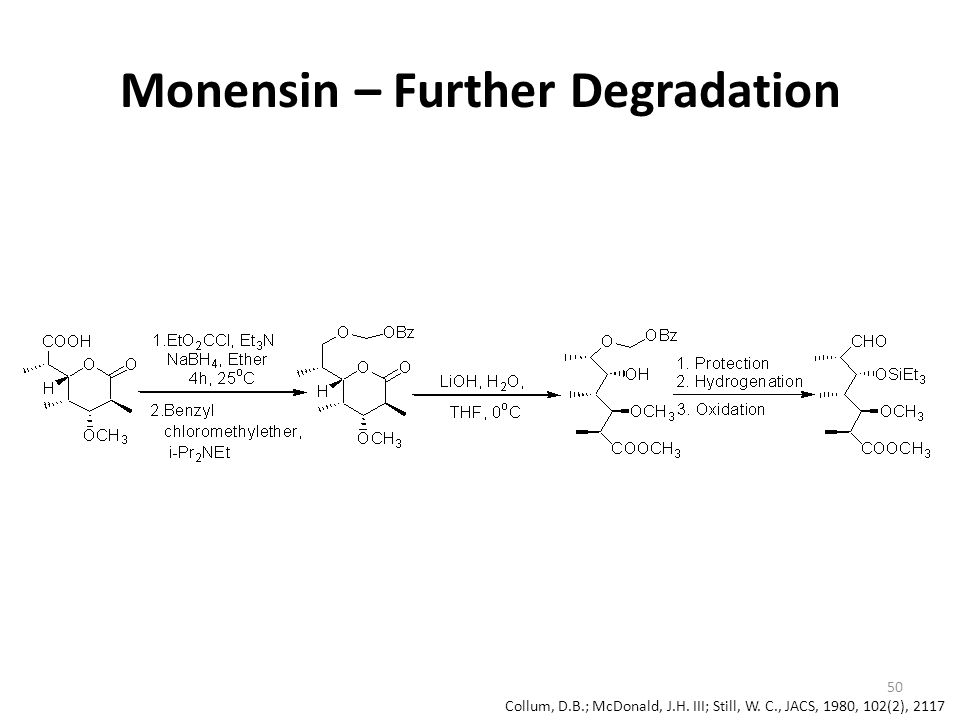 Monensin – Further Degradation