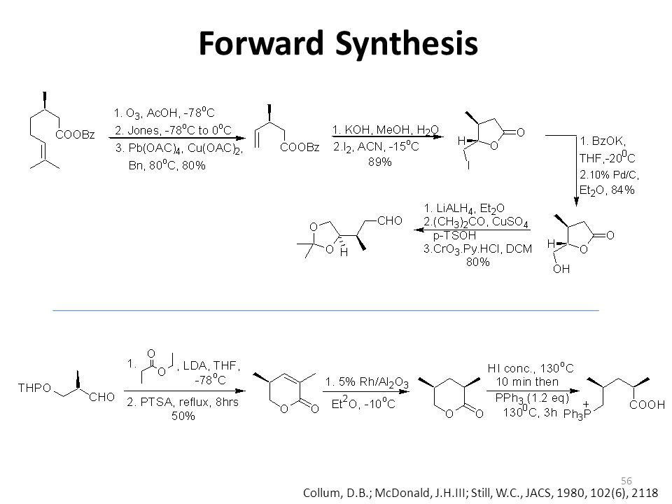 Forward Synthesis Collum, D.B.; McDonald, J.H.III; Still, W.C., JACS, 1980, 102(6), 2118