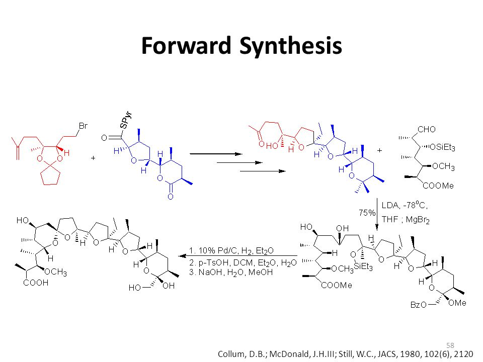 Forward Synthesis Collum, D.B.; McDonald, J.H.III; Still, W.C., JACS, 1980, 102(6), 2120