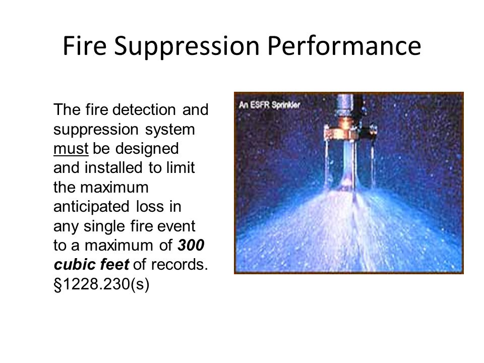 Fire Suppression Performance