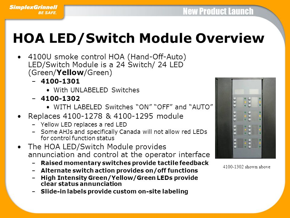 HOA LED/Switch Module Overview