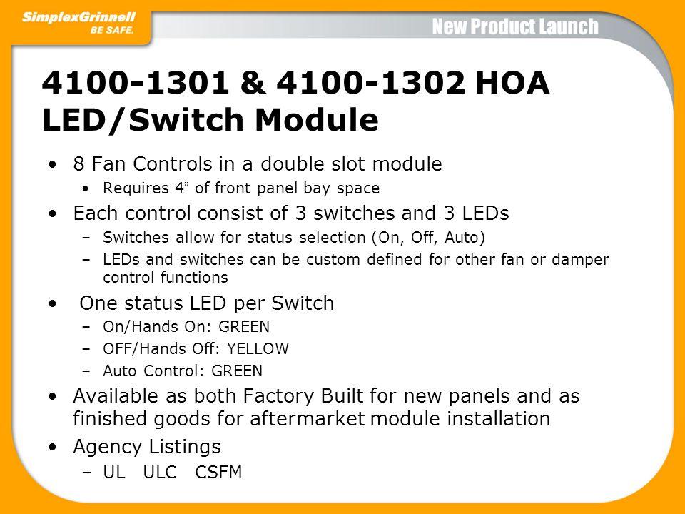 4100-1301 & 4100-1302 HOA LED/Switch Module