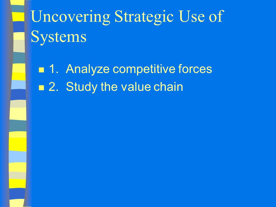 Uncovering Strategic Use of Systems