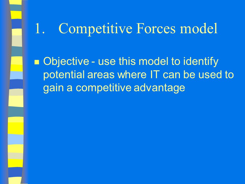 1. Competitive Forces model
