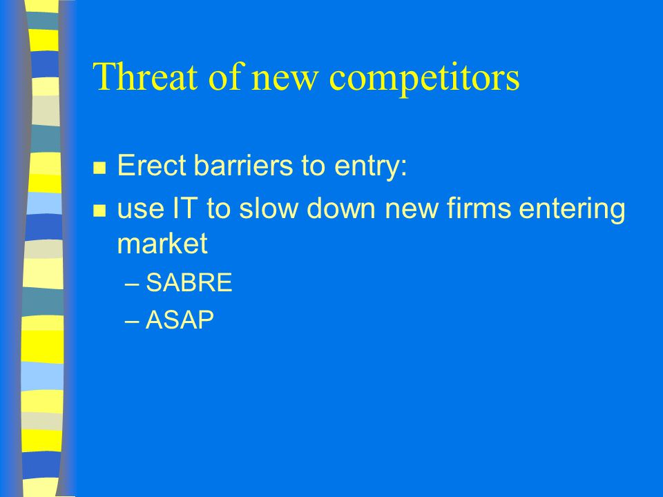 Threat of new competitors