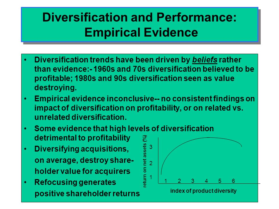Diversification and Performance: Empirical Evidence