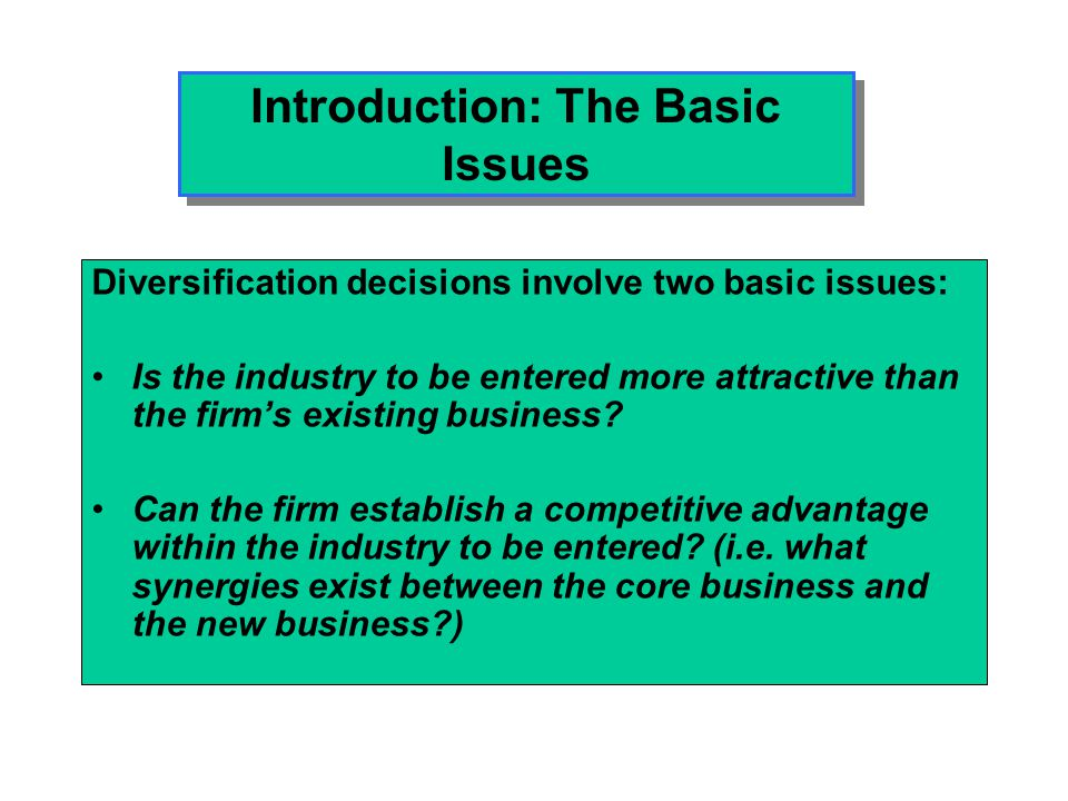 Introduction: The Basic Issues