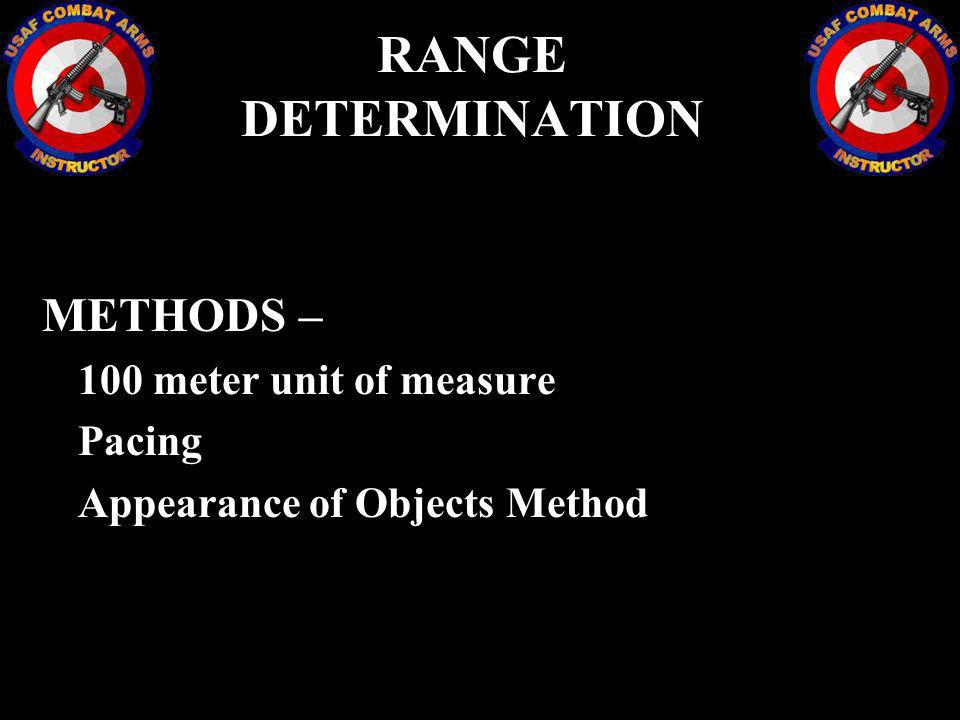 RANGE DETERMINATION METHODS – Pacing Appearance of Objects Method