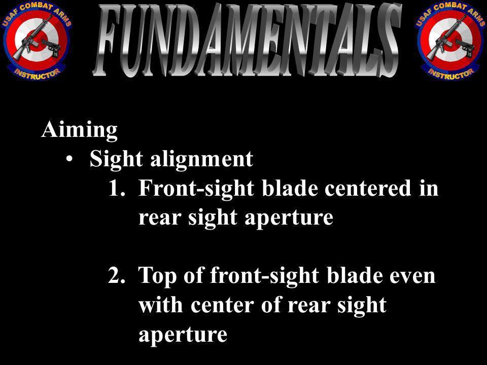 FUNDAMENTALS Aiming Sight alignment