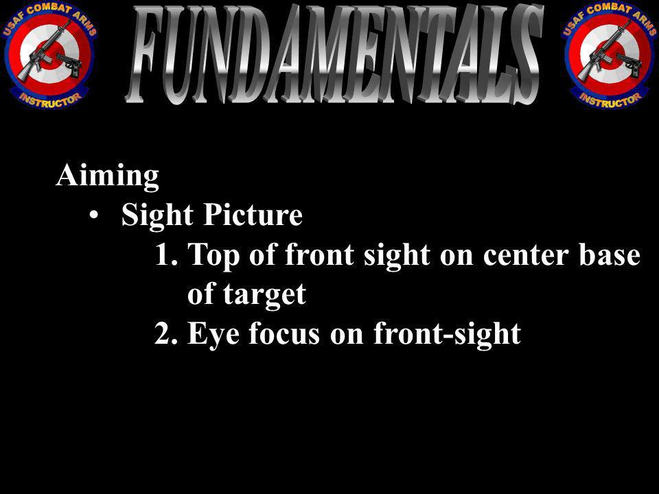 FUNDAMENTALS Aiming Sight Picture