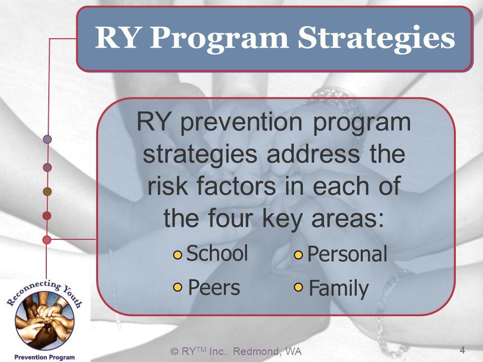 School Peers. Personal. Family. RY Program Strategies.
