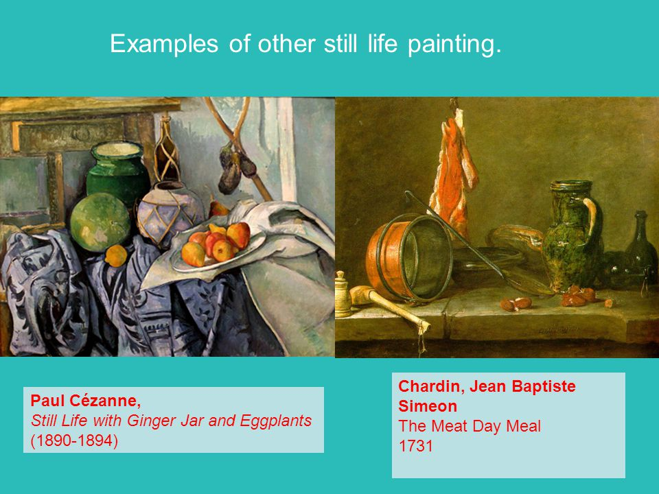 Examples of other still life painting.
