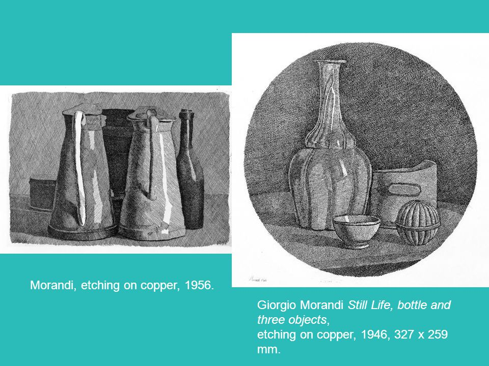 Morandi, etching on copper, 1956.