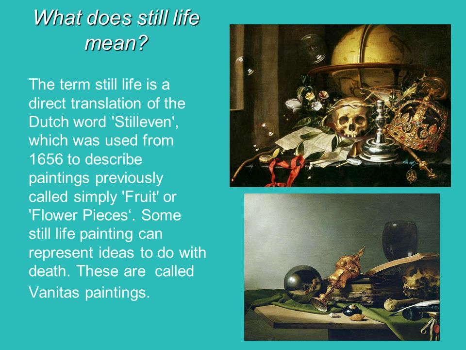 What does still life mean