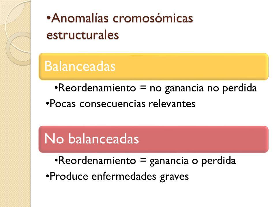 Anomalías cromosómicas estructurales