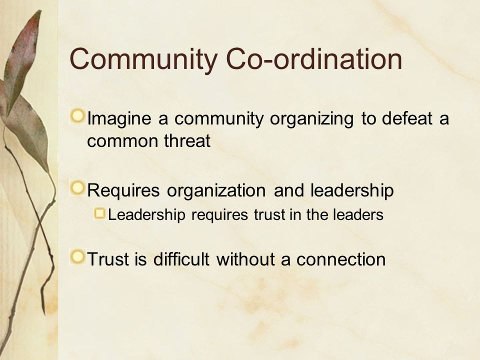 Community Co-ordination