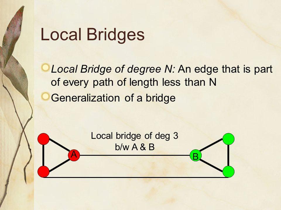 Local bridge of deg 3 b/w A & B